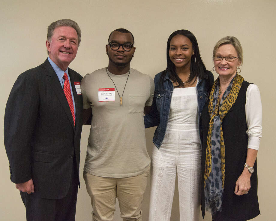 InsurMark Folds of Honor 2017 recipients Joshua Long, second from left, and Kiera Bradley, second from right, are congratulated by Steve and Becky Kerns. Photo: InsurMark