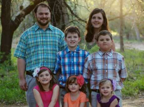 A handout photo of the Holcombe family on Motherís Day in 2013. Eight members of the family were killed Nov. 5, 2017, when a gunman opened fire at the First Baptist Church in Sutherland Springs, Texas. First row, from left: Emily Hill, Megan Hill and Evelyn Hill. Middle row, from left: Phillip Hill, left, and Greg Hill. Top row, from left: John and Crystal Holcombe. (Handout via The New York Times) -- NO SALES; FOR EDITORIAL USE ONLY WITH TEXAS SHOOTING VICTIMS BY CHRISTINA CARON, JULIE TURKEWITZ and SHANNON SIMS FOR NOV. 8, 2017. ALL OTHER USE PROHIBITED. --