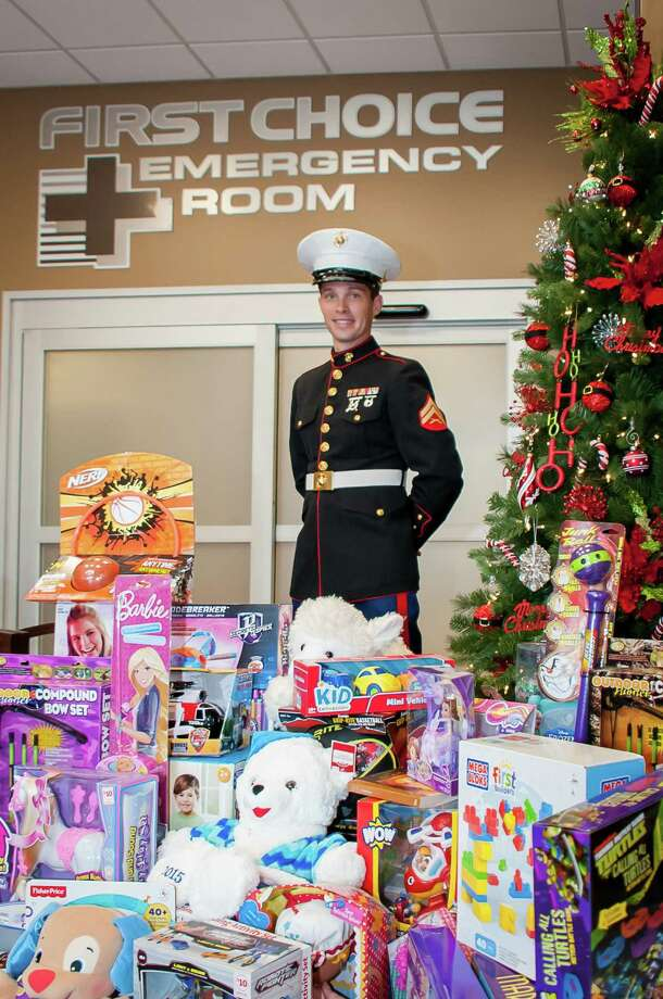 For the 6th year in a row, First Choice Emergency Room facilities across Houston are teaming up with Toys for Tots for the annual community holiday drive.  Photo: First Choice Emergency Room / Mary K. Meier