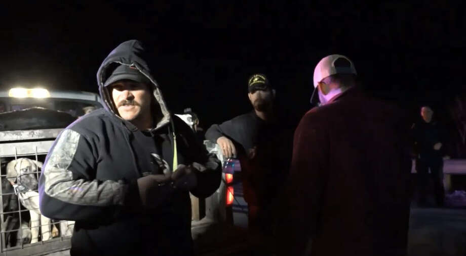 A group of Texas hog hunters and their dogs were rescued Tuesday morning after hours of searching for the hunters in Dallas County.