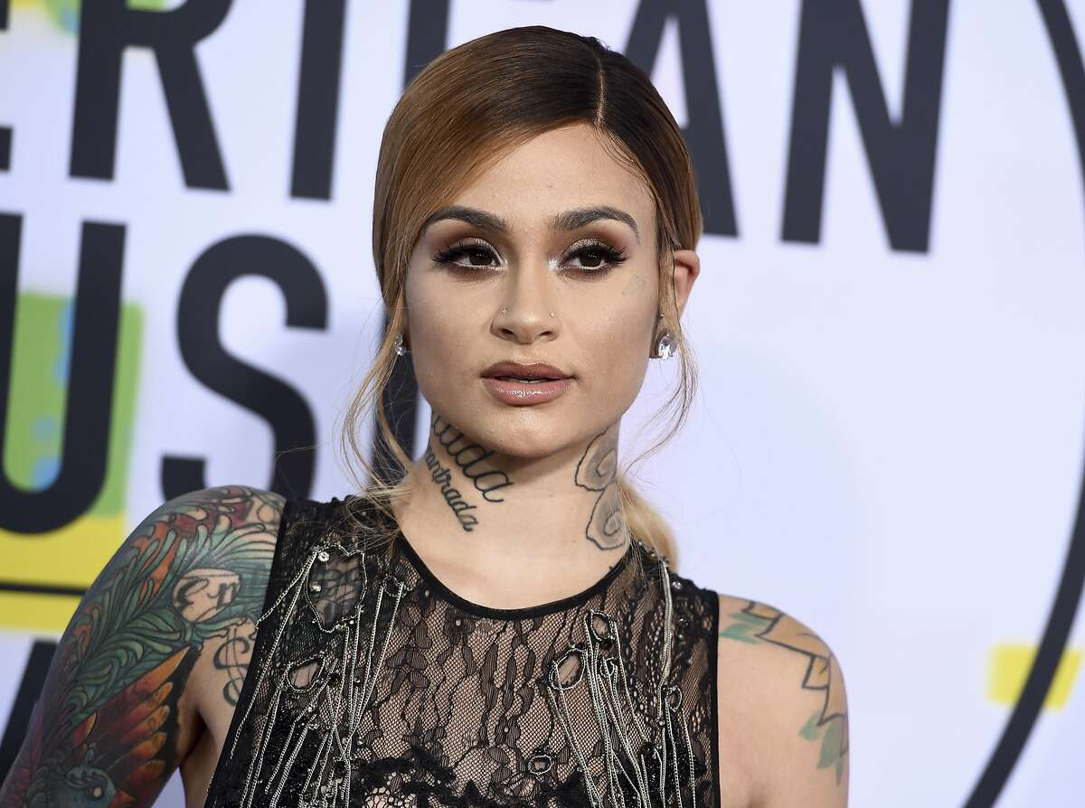Kehlani arrives at the American Music Awards at the Microsoft Theater on Sunday, Nov. 19, 2017, in Los Angeles.