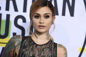 Kehlani arrives at the American Music Awards at the Microsoft Theater on Sunday, Nov. 19, 2017, in Los Angeles. (Photo by Jordan Strauss/Invision/AP)
