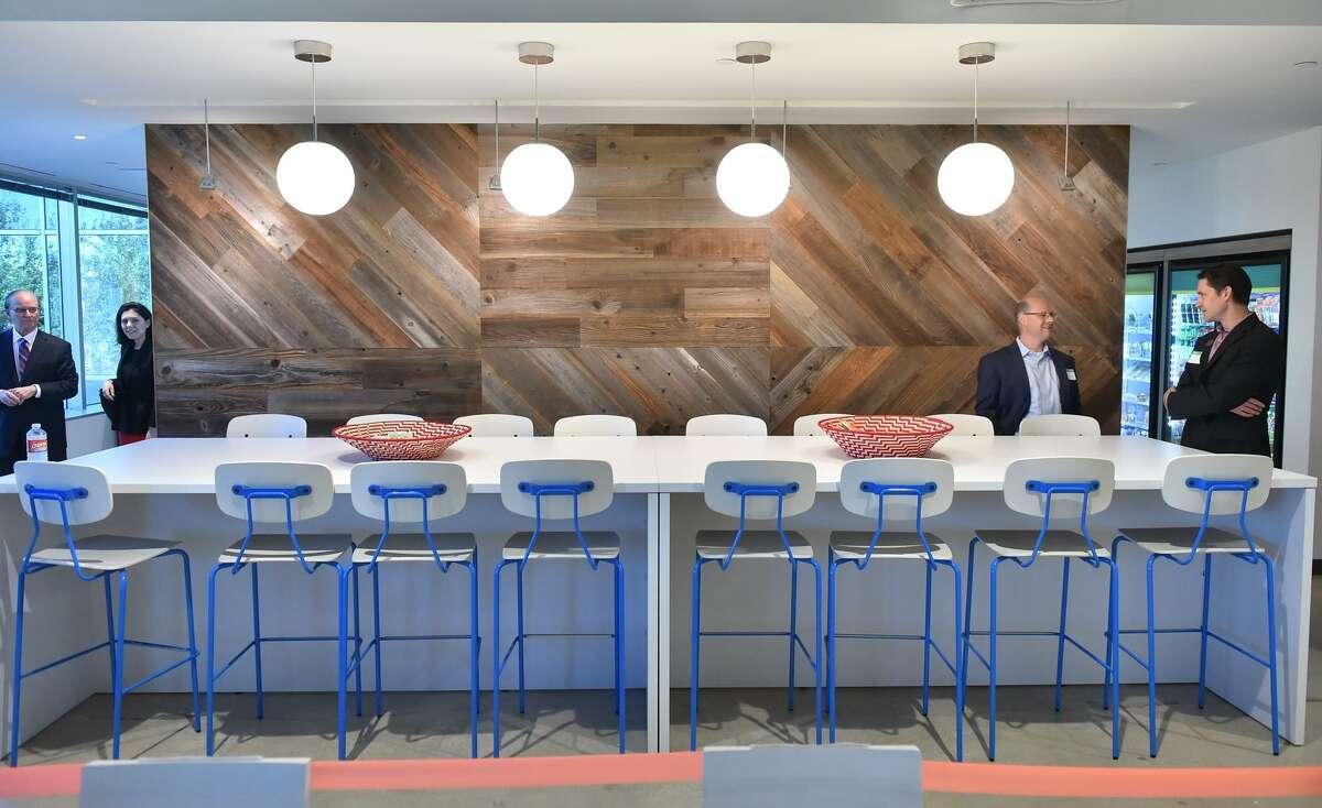 A break room in the San Antonio offices of Hulu.