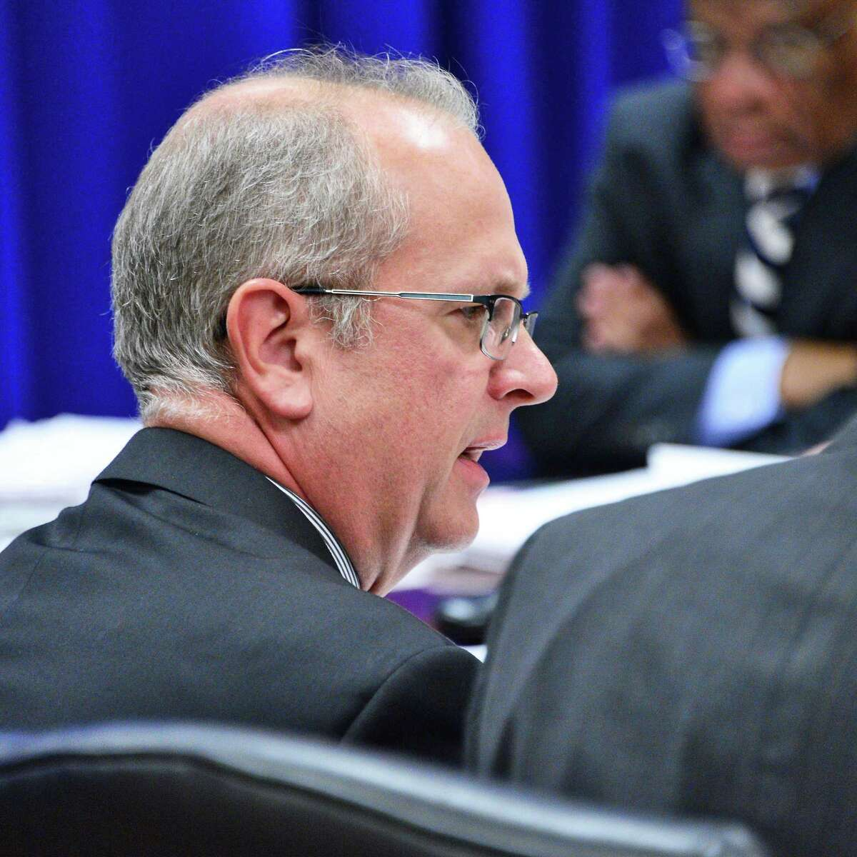 J. Gerard McAuliffe, Jr. during a meeting of the NYS Joint Commission on Public Ethics Tuesday Nov. 28, 2017 in Albany, NY. (John Carl D'Annibale / Times Union)