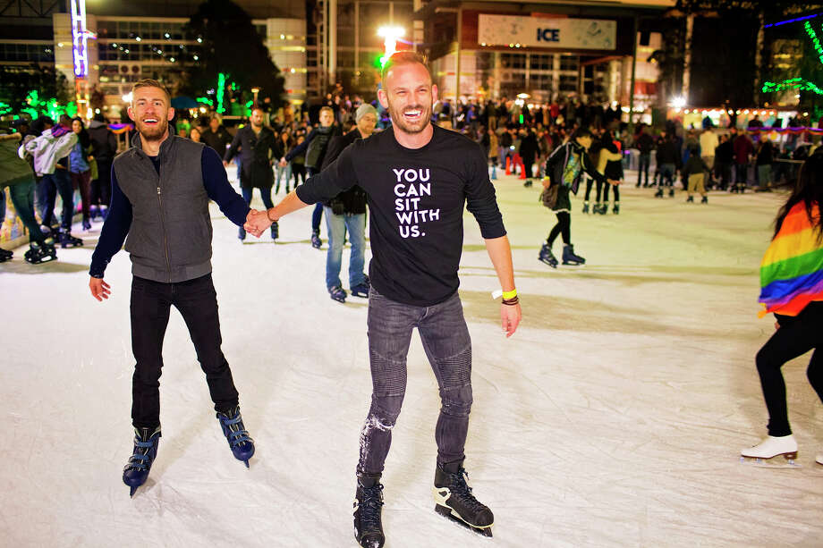 Discovery Green hosts the seventh annual Rainbow on ICE. Photo: Katya Horner