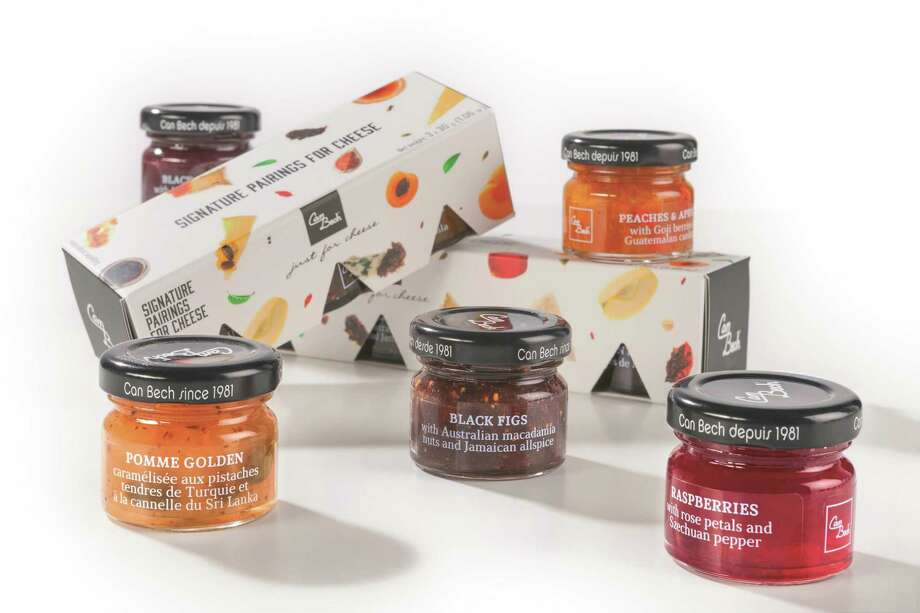 Signature Pairings for Cheese gift box include 5 delicious sweet sauces made with fruits, nuts and spices from all over the world and specially created for pairing with cheese. Photo: Image Provided By The Manufacturers