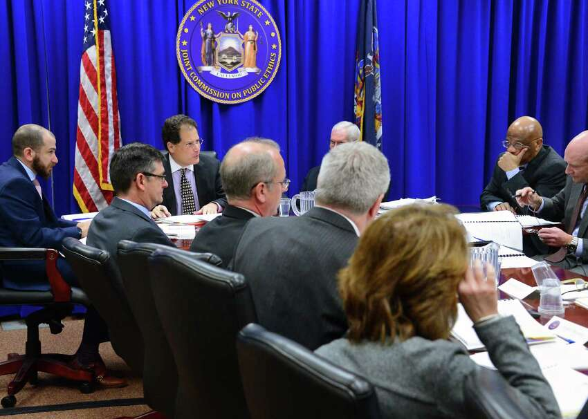 The NYS Joint Commission on Public Ethics meets Tuesday Nov. 28, 2017 in Albany, NY. (John Carl D'Annibale / Times Union)