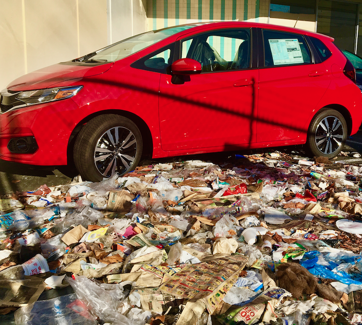 Sf Chronicle Classifieds: Mission Eyesore: Garbage Piles High In San Francisco Car