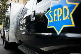 San Francisco bomb squad responds to suspicious device at Turk and Leavenworth streets in San Francisco's Tenderloin neighborhood on Wednesday, Aug. 9, 2017.