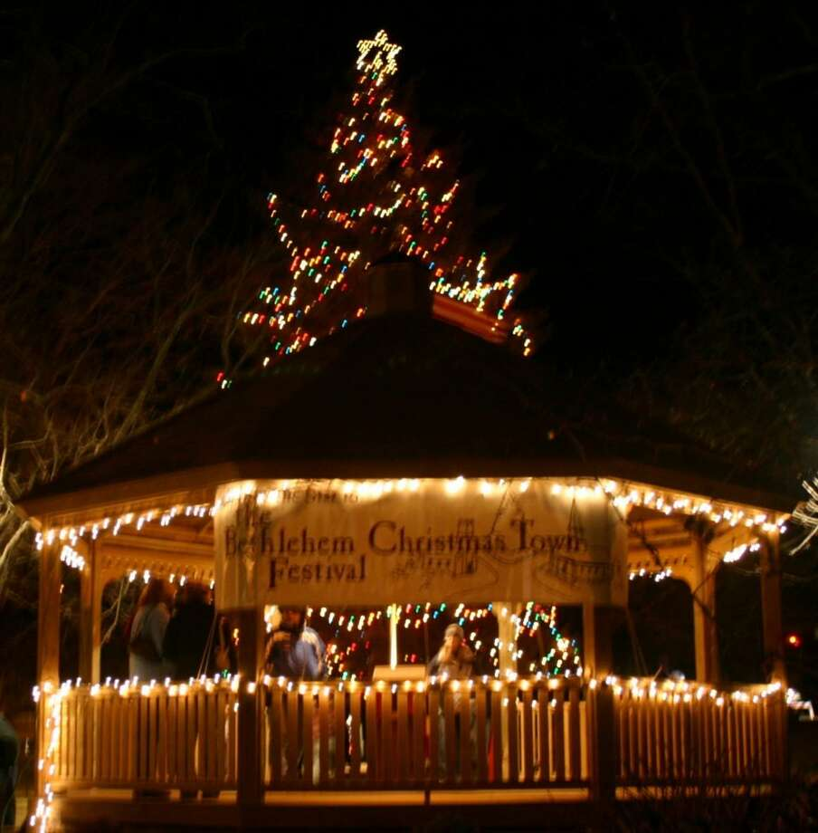 Bethlehem's Christmas Town Festival is set for Dec. 1-2. Live music is performed on the town green, including performances by Waterbury's Valley Chordsmen and the Chime In Bell Choir. Photo: Contributed Photo /Not For Resale