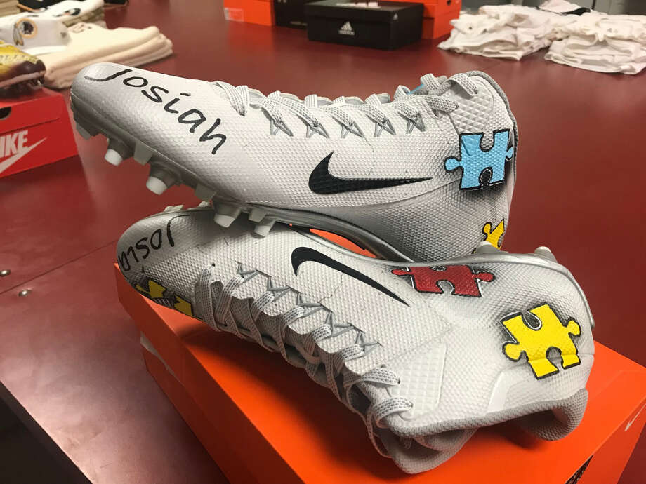 dead935a6aa4 Redskins defensive lineman Ziggy Hood will wear cleats to promote autism  awareness in Thursday s game.