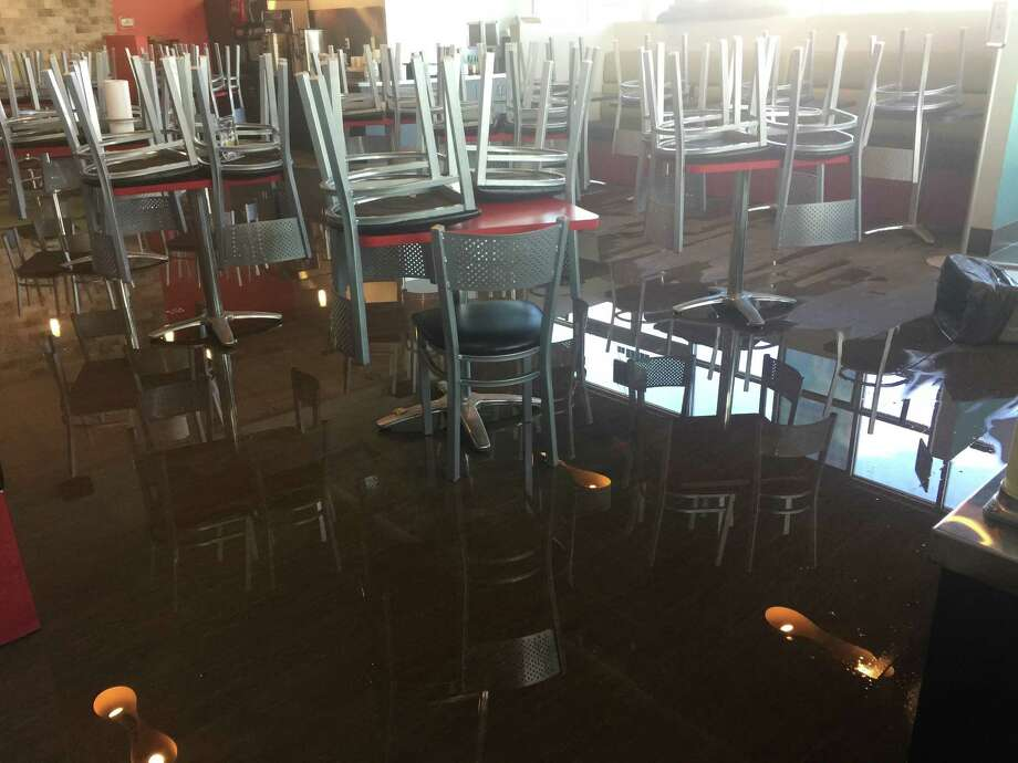 Pena's Donuts & Diner sustained extensive damage from Hurricane Harvey.