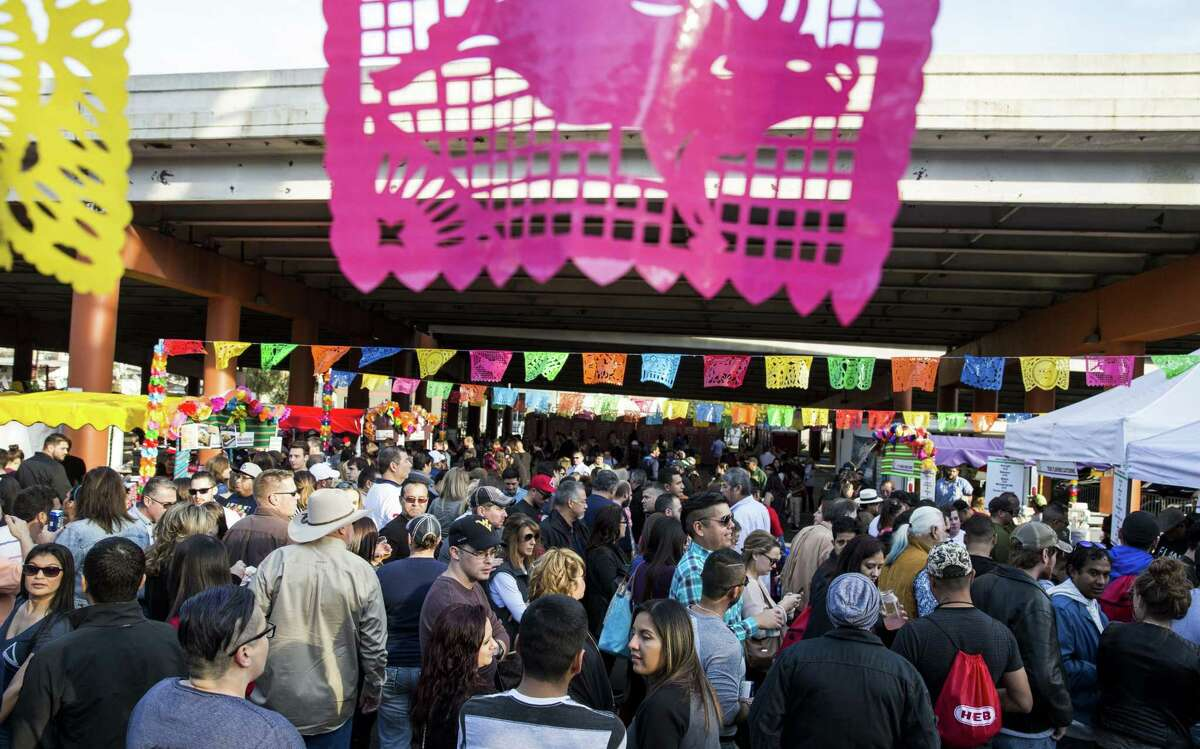 Thousands of people attend the sixth annual Tamales! Holiday Festival in 2015.