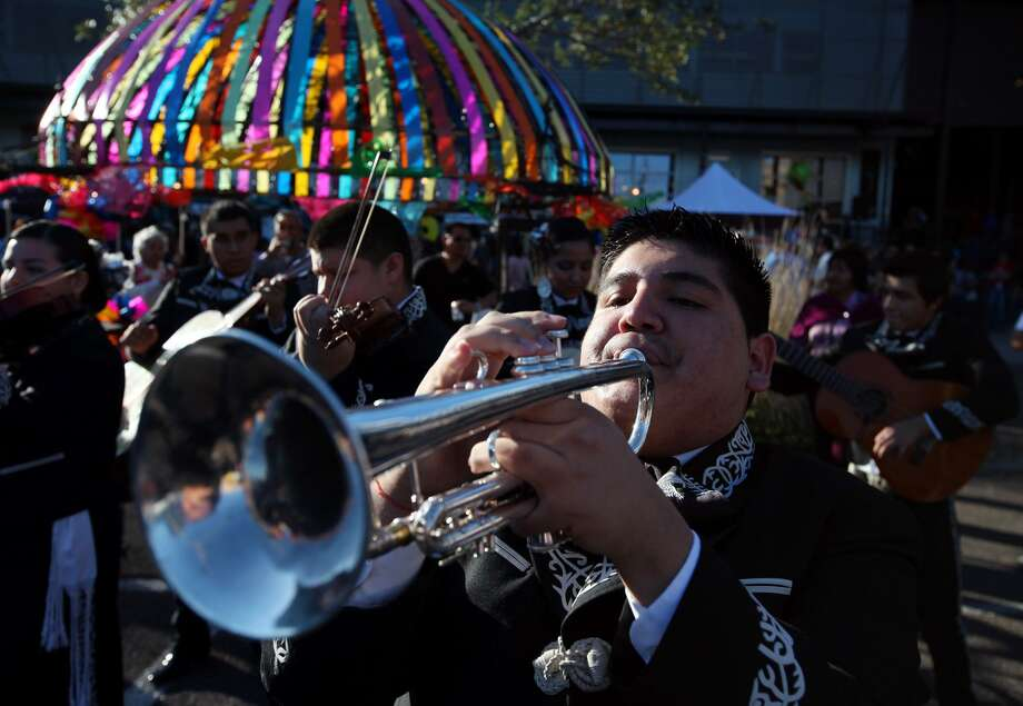 Fiesta just wrapped up, but the party will continue at Market Square, where a 3-day Cinco de Mayo celebration will mark the inception of a San Antonio's Festival de Mariachi this weekend. Photo: Edward A. Ornelas /San Antonio Express-News / eaornelas@express-news.net