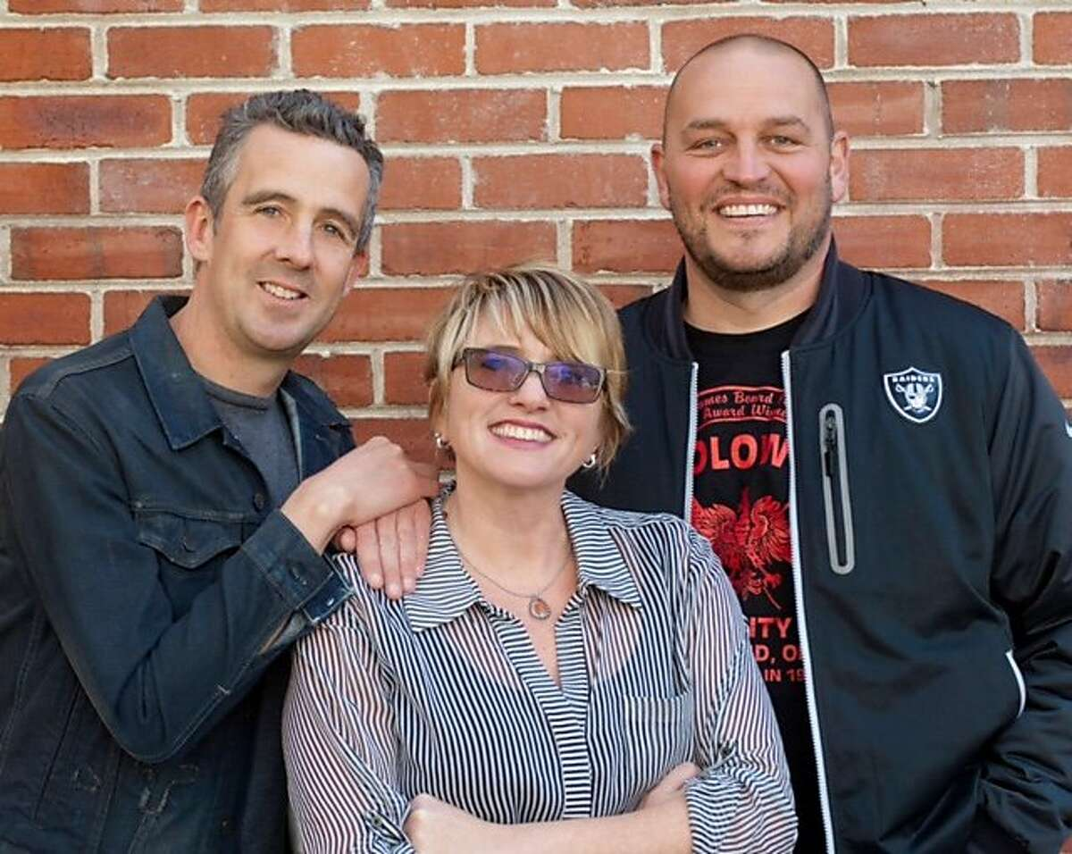 Cumulus Media added Greg McQuaid and Mike Nelson as co-hosts of The KFOG Morning Show. (From left to right: McQuaid, Renee Richardson, and Nelson.)