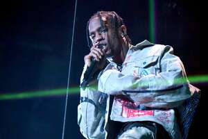 LONDON, ENGLAND - NOVEMBER 12:  Travis Scott performs on stage during the MTV EMAs 2017 held at The SSE Arena, Wembley on November 12, 2017 in London, England.  (Photo by Jeff Kravitz/FilmMagic)