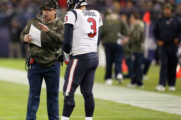 Coach Bill O'Brien, left, wants to continue working with Tom Savage to correct his mistakes.