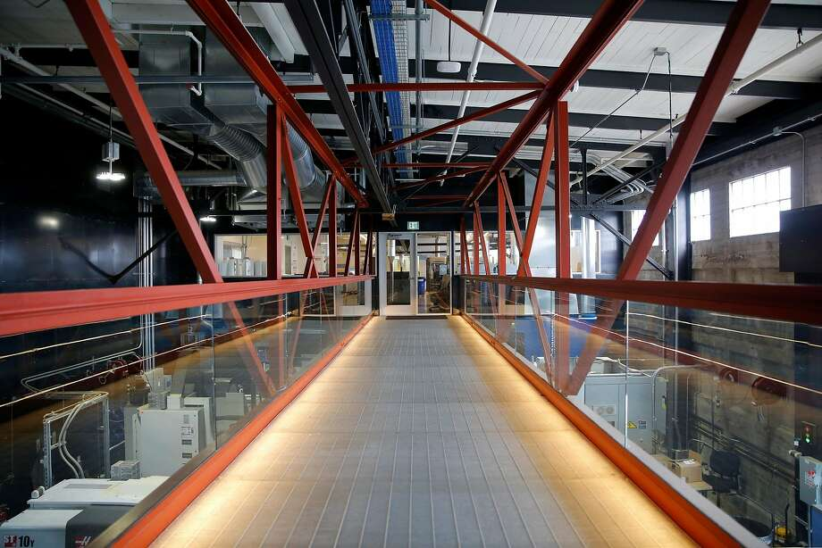 A bridge connecting two work spaces at Autodesk's offices at Pier 9 in San Francisco, California, on Wednesday, Sept. 30, 2015. Photo: Connor Radnovich, The Chronicle