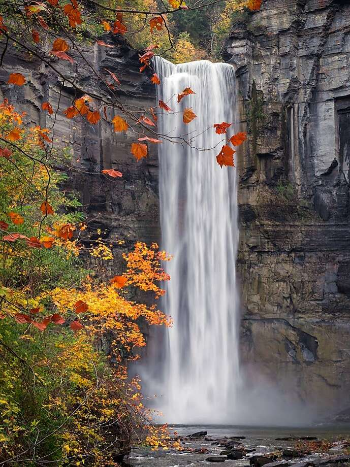 Taughannock Falls outside Ithaca is three times higher than Niagara. (Christopher Ray/TNS) Photo: Christopher Ray, TNS