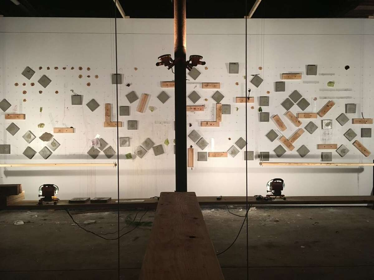 The art installation using plates and utensils following The Tasting at Arts, Letters & Numbers in Averill Park. (Photo courtesy of Arts, Letters & Numbers)