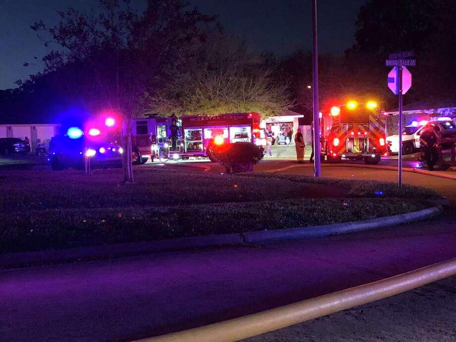 The Eastex Fire Department puts out a house fire on Buckeye Glen Lane near Humble. Photo: Julie Silva