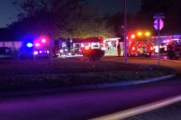 The Eastex Fire Department puts out a house fire on Buckeye Glen Lane near Humble.