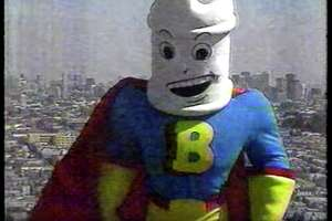 Bleachman, as played by Les Papas, appears in a television commercial.