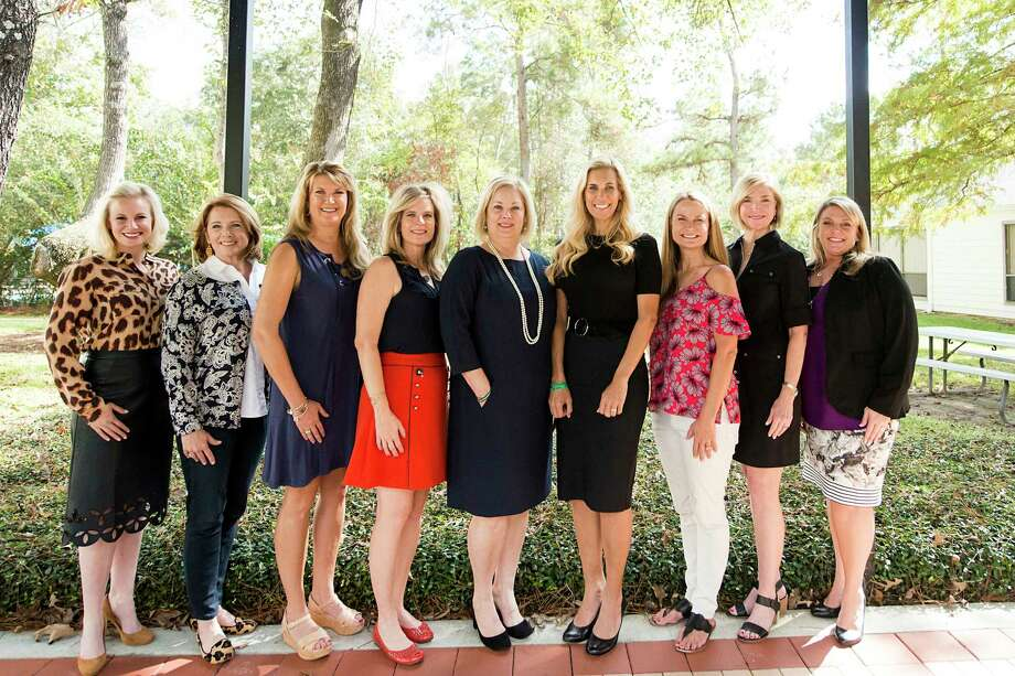 Pictured from left are the Women Empowering Women committee members Meagan Jamaluddin, Kelly Hull, Darin Mittelstaedt, Lee Fackler, Anita Phillips, Missy Herndon, Emma Sims, Georgianna Syal, and Kathy Rifaat. Photo: Submitted Photo