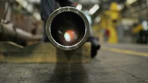 A view looking into a 155 millimeter gun barrel in the finish gun tube building at the Watervliet Arsenal  on Tuesday, June 11, 2013, in Watervliet, N.Y.  (Paul Buckowski / Times Union archive)