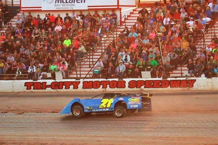 Midland's Steven Hilliker competes at Tri-City Motor Speedway recently. (photo provided)