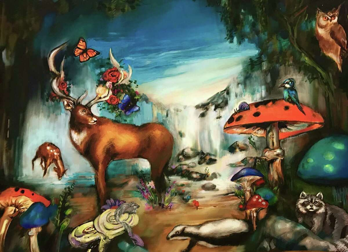 A variety of paintings by various artists are part of Six Summit Gallery's new show,