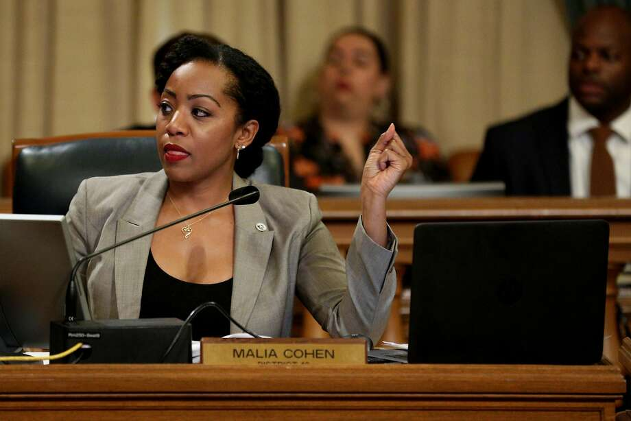 Malia Cohen, a member of the San Francisco Board of Supervisors representing District 10, during a board meeting at City Hall on Tuesday, Nov. 28, 2017, in San Francisco, Calif. Photo: Santiago Mejia, The Chronicle