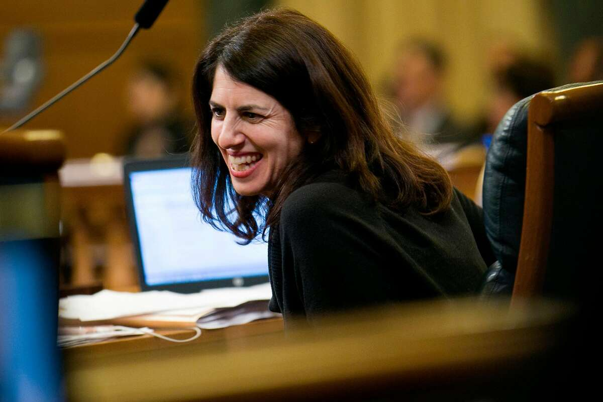 Hillary Ronen, a member of the San Francisco Board of Supervisors representing District 9, during a board meeting at City Hall on Tuesday, Nov. 28, 2017, in San Francisco, Calif.