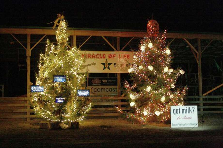 While the Holiday Light Show began over the weekend, it will continue on throughout the holiday season, from 6 to 10 p.m. every Friday, Saturday and Sunday, through Dec. 24 Christmas Eve at the Huron Community Fairgrounds. (Rich Harp/For the Tribune)