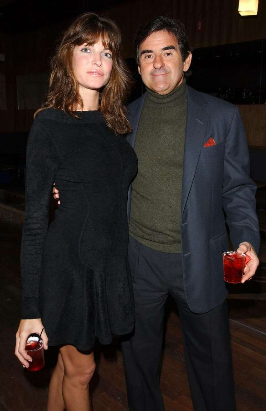 Stephanie Seymour and husband Peter Brant arrive for the VH1 and Ford Models party at the new night club Avalon to celebrate the start of New York Fashion Week and