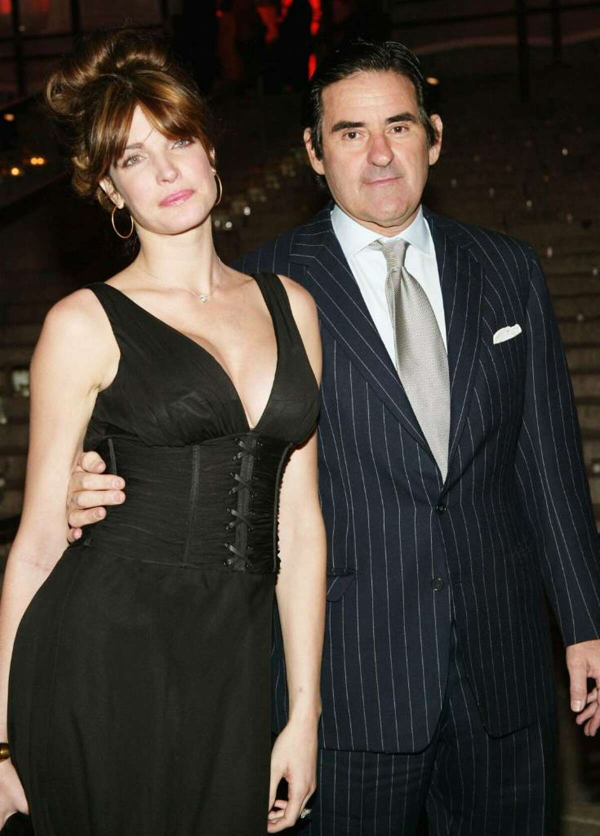 Model Stephanie Seymour and husband Peter Brant attend the Vanity Fair Party at the Tribeca Film Festival May 4, 2004 in New York City.