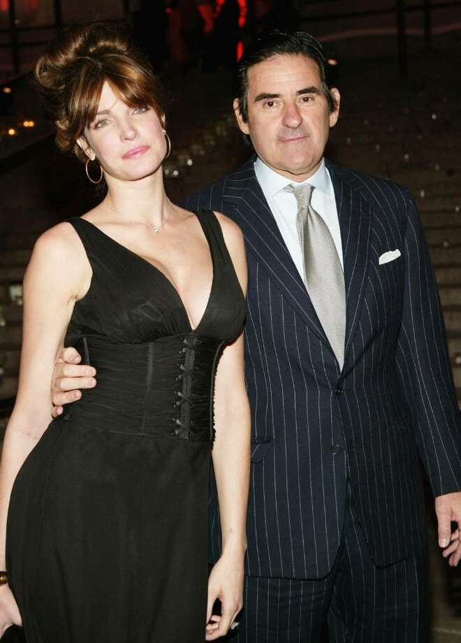 Model Stephanie Seymour and husband Peter Brant attend the Vanity Fair Party at the Tribeca Film Festival May 4, 2004 in New York City. Photo: Evan Agostini, Getty Images / 2004 Getty Images
