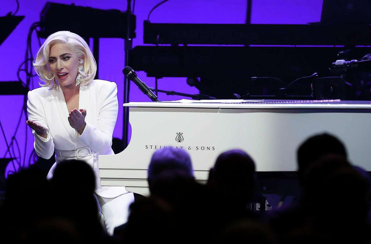 Lady Gaga performs at an Oct. 21 benefit concert in College Station for the One America Appeal, an effort led by five former U.S. presidents to assist hurricane victims. ( Yi-Chin Lee / Houston Chronicle )