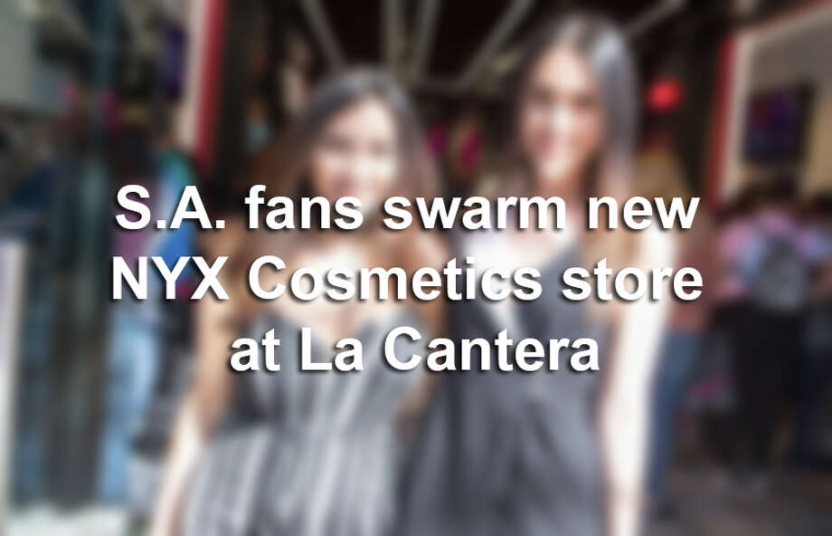 A throng of fans welcomed the first NYX Cosmetics store in San Antonio, which opened at The Shops at La Cantera Friday, Feb. 24, 2017.