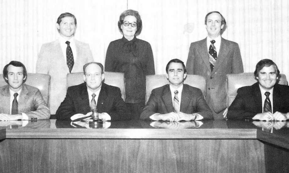 Pictured is the 1981-82 Conroe ISD school board. From left are Dr. Charles Eldridge, William Leigh, Don Buckalew, Oree Bozman, Roger Galatas, Don Collins and Dr. John Peet.