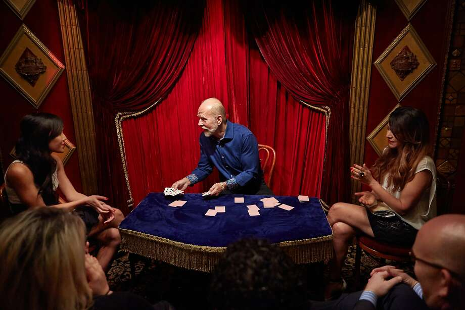 """Richard Turner, who happens to be blind, woos audiences with his card performances without letting on that he is sightless in the documentary """"Dealt"""" about his life and family. Photo: IFC Films"""