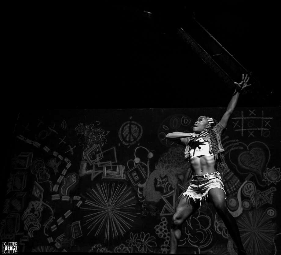 """Choreographer Camille A. Brown performs in her """"Black Girl: Linguistic Play."""" Photo: Courtesy Camille A. Brown?"""