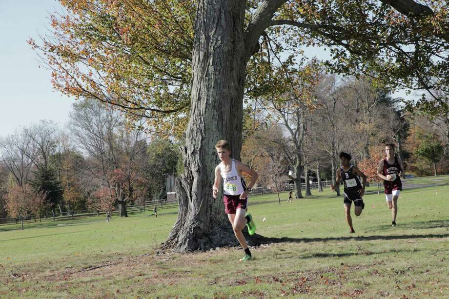 Eighth-grader Thomas Arnold runs for the St. Luke's cross country team. Arnold was named All-League in his first year on the varsity team. Photo: Contributed Photo / Desiree Smock 2017