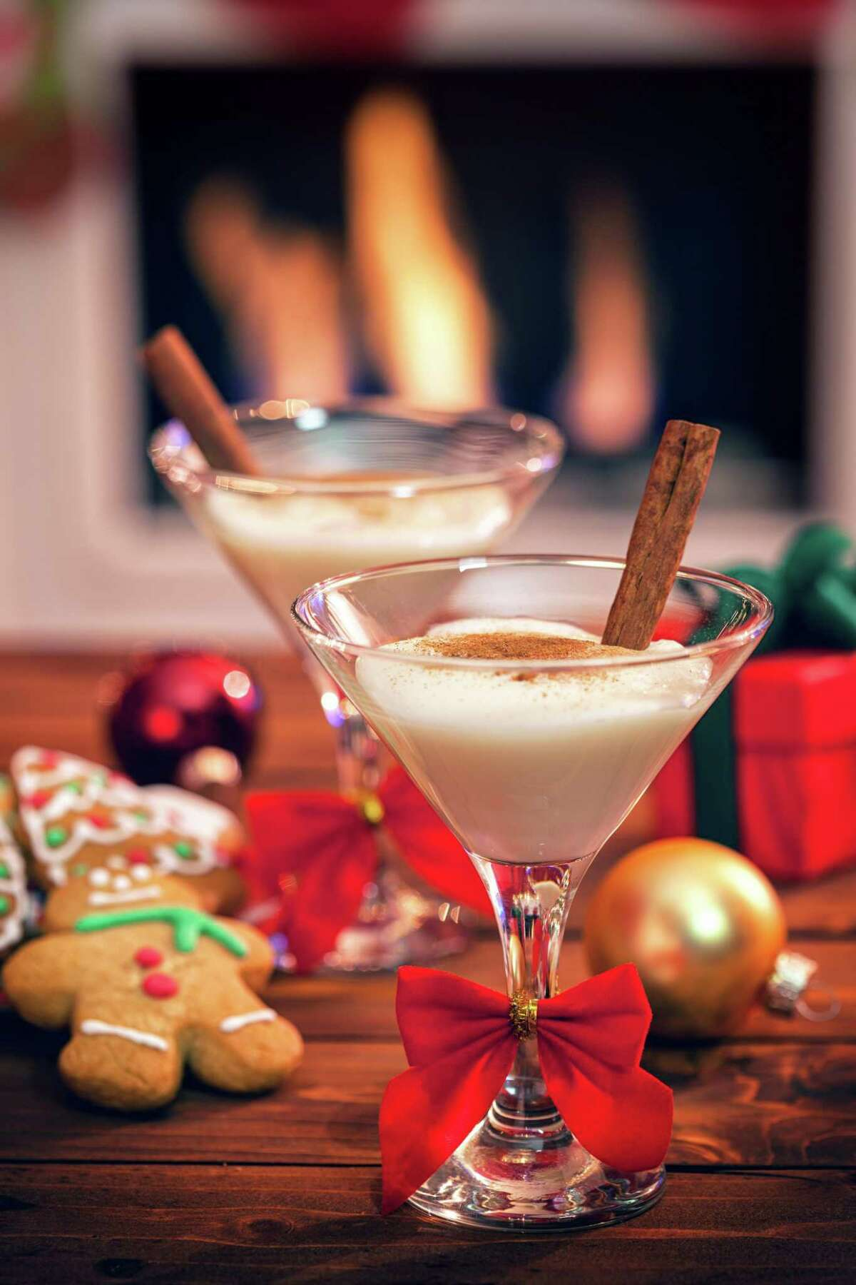 Making eggnog at home can be as simple as mixing spirits into your favorite vanilla ice cream.
