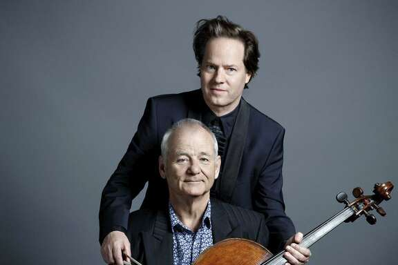 """Bill Murray (front) and cellist Jan Vogler of """"New Worlds."""""""