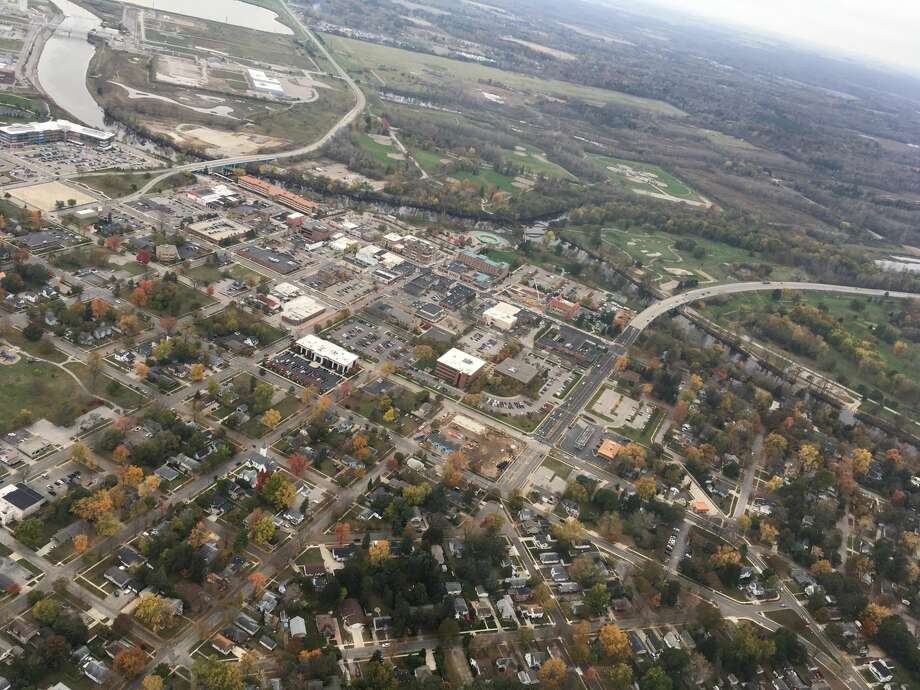 An aerial photo of downtown Midland captured Nov. 1. Photo: Dot Hornsby