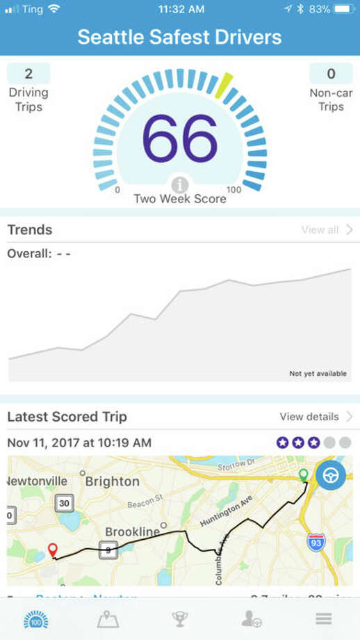 Are you Seattle's Safest Driver? This new app from the City of Seattle may tell you.A similar competition in Boston reportedly engaged close to 5,000 residents. The top 25% of app users saw a 35% reduction in speeding and a 47% reduction in phone use. Photo: Seattle's Safest Driver Screenshot