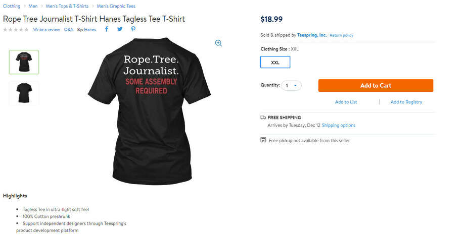 35af5ecc Walmart is facing controversy for selling a shirt with an offensive phrase  on their website.