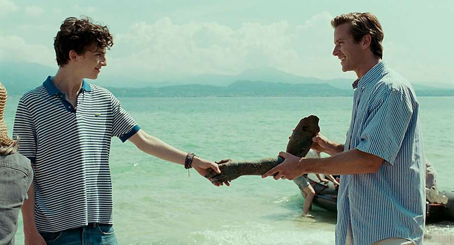 """Timothée Chalamet (left) as Elio and Armie Hammer as Oliver in a scene from """"Call Me by Your Name,"""" opening Friday at Bay Area theaters. Photo: Sony Pictures Classics"""