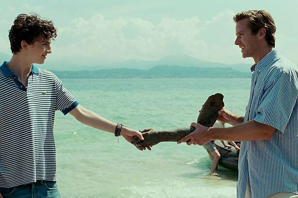 """L_R: Timothée Chalamet as Elio and Armie Hammer as Oliver in a scene from """"Call Me By Your Name,"""" opening Friday, December 15, at Bay Area theaters. Photo by Sayombhu Mukdeeprom, courtesy of Sony Pictures Classics."""